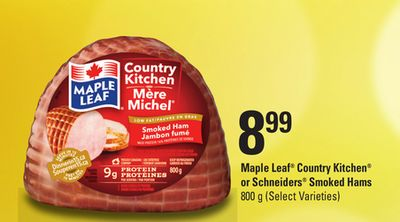 Maple Leaf Country Kitchen Or Schneiders Smoked Hams - 800 g