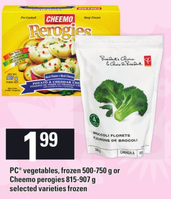 PC Vegetables - Frozen 500-750 G Or Cheemo Perogies 815-907 G