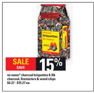No Name Charcoal Briquettes - 8.3lb Charcoal - Firestarters & Wood Chips