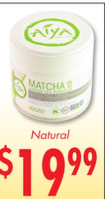 aiya matcha green tea powder on sale. Black Bedroom Furniture Sets. Home Design Ideas