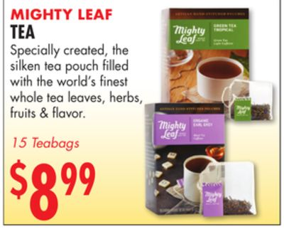 Experience the world of Mighty Leaf Canada. Savour the highest quality whole leaf teas and one-of-a-kind blends, from our loose leaf teas to our signature silken tea pouches. Enjoy free delivery on orders over $99 and two free samples with every order.
