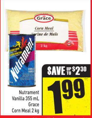 Nutrament Vanilla 355 mL Grace Corn Meal 2 Kg