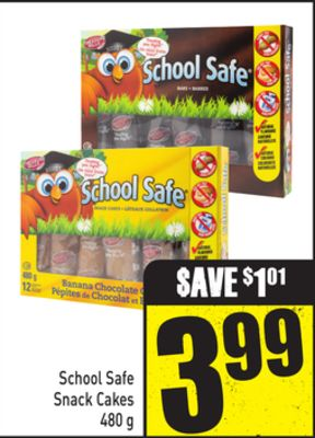 School Safe Snack Cakes 480 g