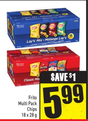 Frito Multi Pack Chips 18 X 28 g