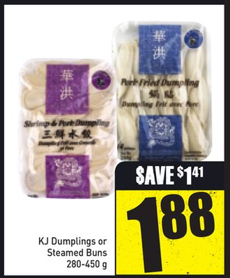 Kj Dumplings or Steamed Buns 280-450 g