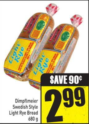 Dimpflmeier Swedish Style Light Rye Bread 680 g