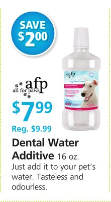 All For Paws Dental Water Additive