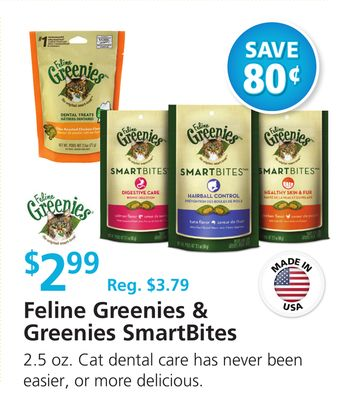 Feline Greenies & Greenies Smartbites