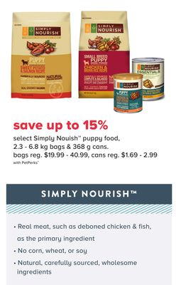Select Simply Nourish Puppy Food