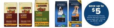 Select Authority & Simply Nourish Dog Food