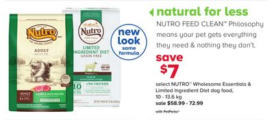 Select Nutro Wholesome Essentials & Limited Ingredient Diet Dog Food