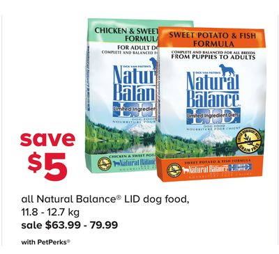 All Natural Balance Lid Dog Food