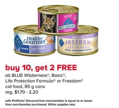 Blue Wilderness - Basic - Life Protection Formula or Freedom Cat Food