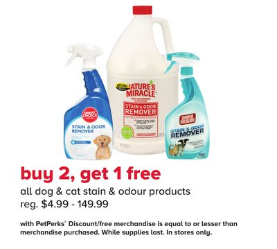 All Dog & Cat Stain & Odour Products