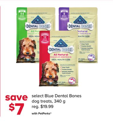 Select Blue Dental Bones Dog Treats