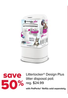 Litterlocker Design Plus Litter Disposal Pail