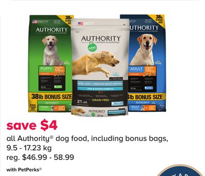 All Authority Dog Food