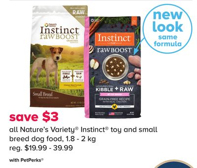 All Nature's Variety Instinct Toy And Small Breed Dog Food