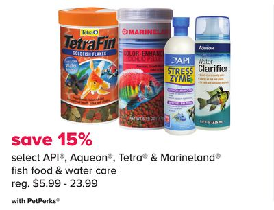Select Api - Aqueon - Tetra & Marineland Fish Food & Water Care