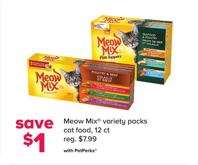 Meow Mix Variety Packs Cat Food