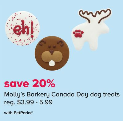 Molly's Barkery Canada Day Dog Treats