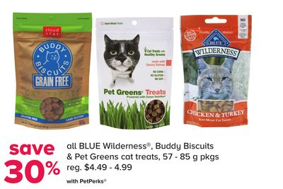 All Blue Wilderness - Buddy Biscuits & Pet Greens Cat Treats