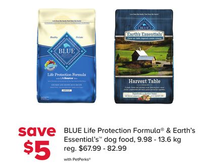 Blue Life Protection Formula & Earth's Essential's Dog Food