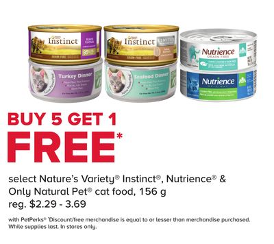 Select Nature's Variety Instinct - Nutrience & Only Natural Pet Cat Food