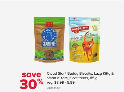 Cloud Star Buddy Biscuits - Lazy Kitty & Smart N' Tasty Cat Treats