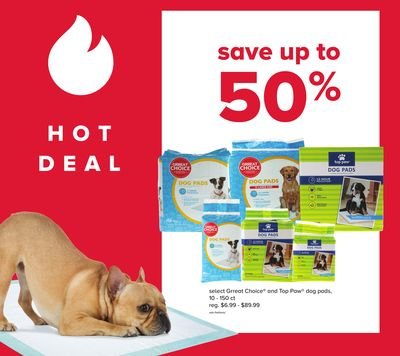 Select Grreat Choice and Top Paw Dog Pads