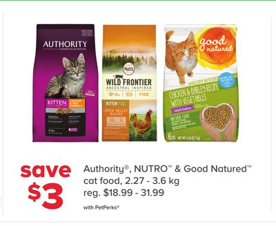 Authority - Nutro & Good Natured Cat Food