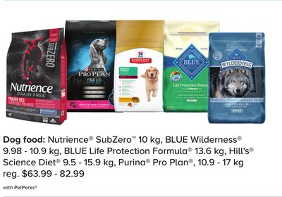 Nutrience Subzero 10 Kg - Blue Wilderness 9.98 - 10.9 Kg - Blue Life Protection Formula 13.6 Kg - Hill's Science Diet 9.5 - 15.9 Kg - Purina Pro Plan - 10.9 - 17 Kg