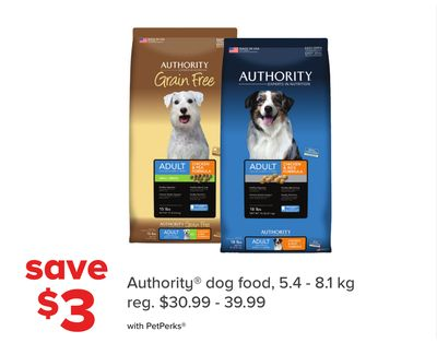Authority Dog Food