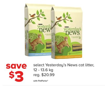 Select Yesterday's News Cat Litter