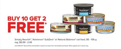 Simply Nourish - Nutrience Subzero or Natural Balance Cat Food