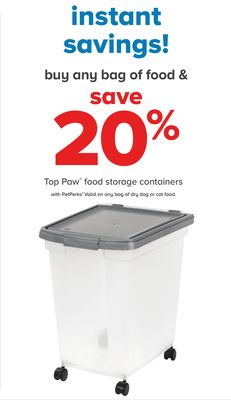 Top Paw Food Storage Containers