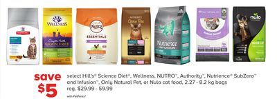 Select Hill's Science Diet - Wellness - Nutro - Authority - Nutrience Subzero And Infusion - Only Natural Pet - Or Nulo Cat Food